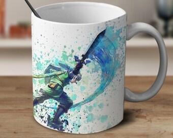 Zelda Color Changing Mug, Legend of Zelda Mug, Zelda Mug, Zelda Watercolor Mug, Zelda Coffee mug, Zelda Cup