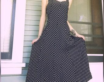 1990s Daisy Print Dress Size Medium