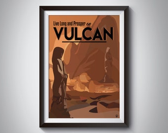 Star Trek Travel Poster | Vulcan | Instant Download