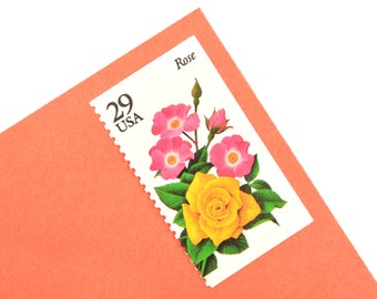 20 Summer Garden Flowers Postage Stamps -  29c - Unused Postage Stamps - Quantity of 20 - Gladiola, Lily, Marigold, Rose, and Zinnia