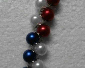 Red, White and Blue Accent Bracelet