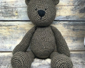 MADE TO ORDER: Crocheted Teddy Bear
