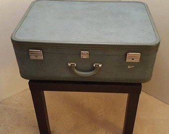 Large vintage upcycled suitcase table