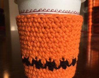Crochet houndstooth cup cozy, cup cozy