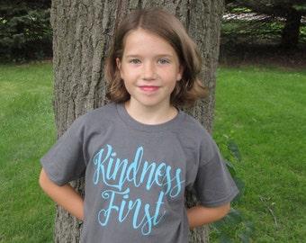 Kindness First Kids Tee
