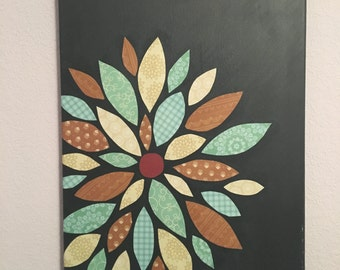 Decorative Flower Canvas