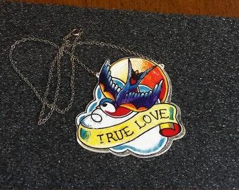 True Love Tattoo Necklace
