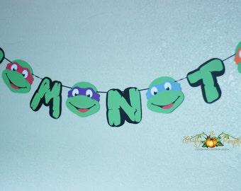 Ninja Turtle Banner, TMNT Ninja Turtle Banner, Ninja Turtle Birthday Banner, TMNT Birthday Banner