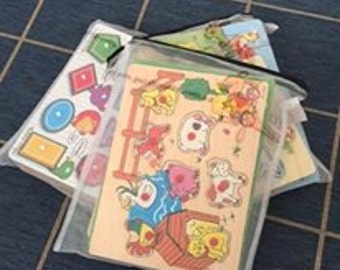 Puzzlepouch (pack of 3) is THE storage solution for puzzle boards, lego storage, shopkins, colouring pencils and just about everything else!