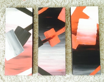 Table abstract triptych
