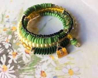 Wrap Bracelet of citrus colours