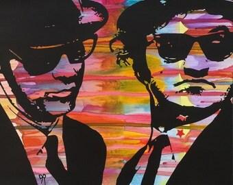 BLUES BROTHERS Pop Art Original Painting