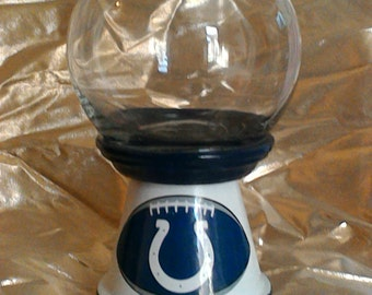 Indianapolis Colts inspired candy jar/decantur/canister with lid.