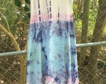 Vintage tie dye hippy dress