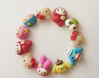Polymer clay charms - Sanrio collection