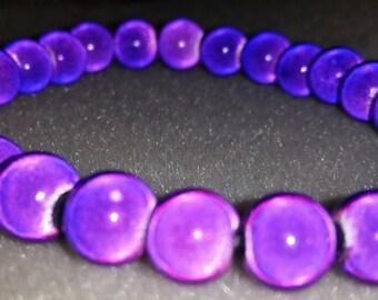 Stretch Bracelet, Purple Bracelet, Miracle Bead Bracelet, Purple  Miracle Bead Stretch Bracelet