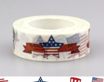 Stars & Stripes Washi Tape / USA Washi Tape / America Washi Tape