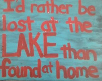 Lost at Lake sign