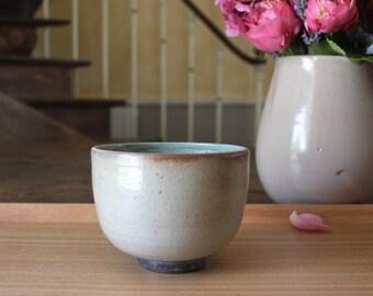 Little bowl  //  green & white  //  ceramic  // stoneware