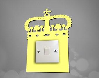 acrylic princess crown light switch surround light switch plate light switch cover available in