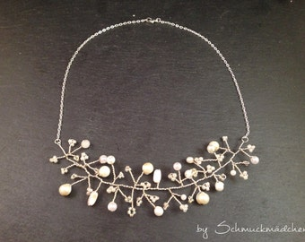 Pearl Necklace silver white