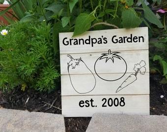 Grandpas garden sign etsy for Grandpas garden