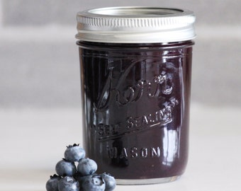 Organic Blueberry Marmalade | Jam 8 fl. oz., homemade and sweet