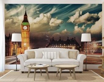 Big Ben MURAL, self adhesive peel and stick 3d wall mural, wallpaper, wall sticker