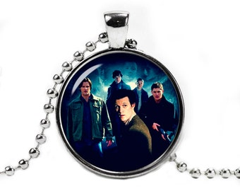 SuperWhoLock Necklace Pendant Supernatural Jewelry Geeky Fangirl Fanboy