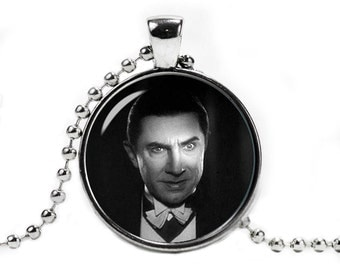 Bela Lugosi Necklace Dracula Pendant Horror Jewelry Halloween Jewelry Fangirl Fanboy