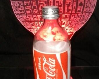 Coca Cola Vintage Glass Bottle 1980's Stubby Melbourne, Victoria, Australia,