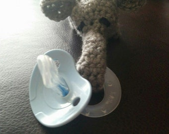 Handmade Baby Binky - Elephant