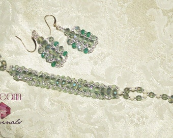 Petite Crystal Bracelet and Earring Set