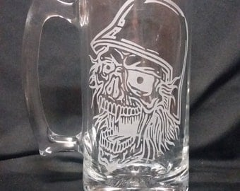Laughing Skull Sandblasted Beer Mug