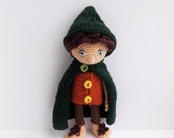 Frodo - handmade hobbit doll
