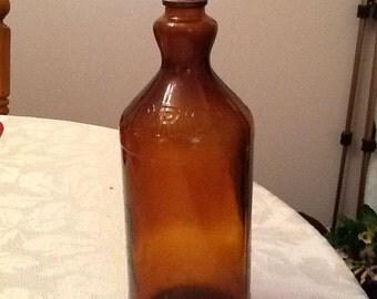 Vintage Brown Clorox Bottle