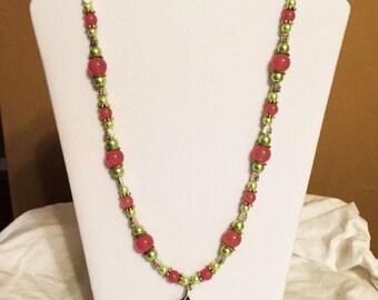 Antique Silver Leaf Necklace Set (NG88012)