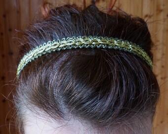 "Evening headband ""Gold"""