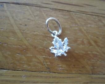 14K Gold Maple Leaf Charm