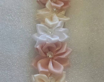 Champagne flower hairband