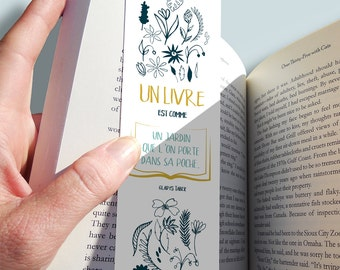 "Bookmark ""a book is like a garden..."". »"
