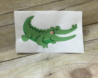 Aligator Embroidery Design, Kids Aligator EmbroideryDesign