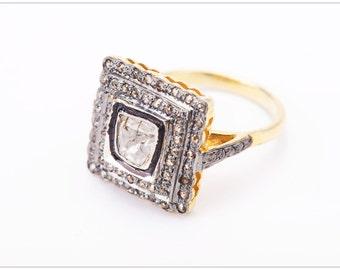 Victorian Diamond polki Ring