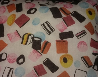 Liquorice allsorts cushion
