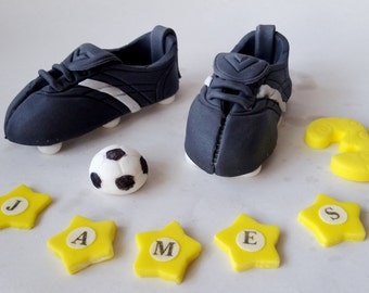personalised edible cake decoration FOOTBALL BOOTS cakes toppers edible decoration personalised birthday