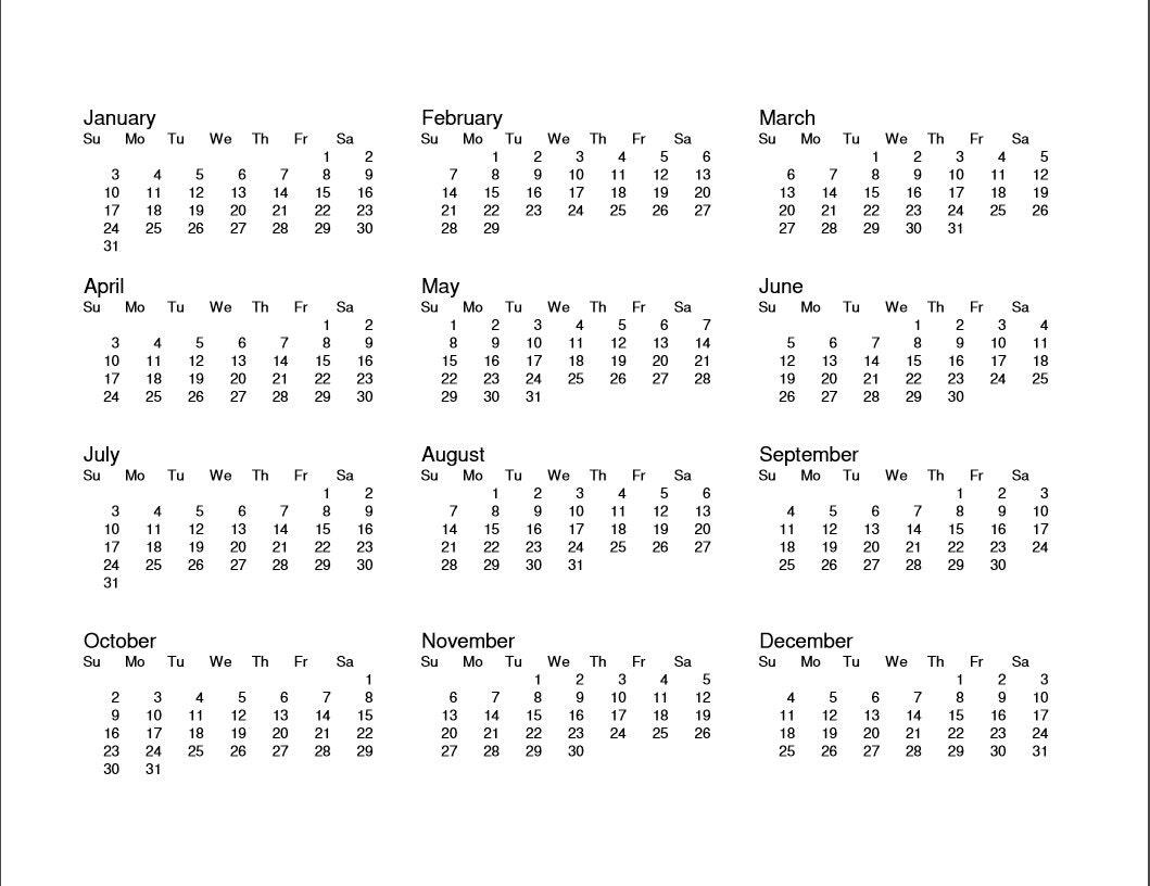 one page calendar 2017 pdf