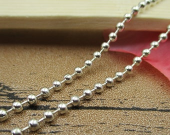 12Ft Silver Ball Chain-2.2mm ,Necklace Chain,Bracelet Chain-CS031