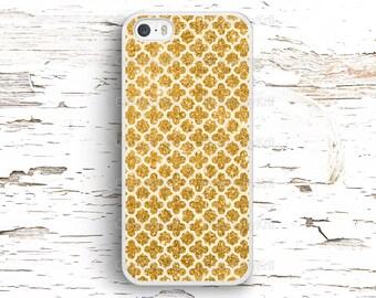 Gold Glitter Ornament Case, iPhone 7 6S 6 SE 5S 5 5C 4S, Samsung Galaxy S6 Edge S5 S4 S3, LG G4 G3, Sony Xperia Z5 Z3, HTC One M8