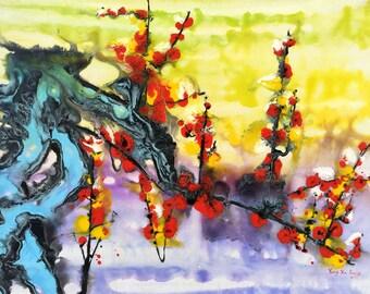 """Yang Xu Jiang - 47x35"""". Acrylic on canvas."""