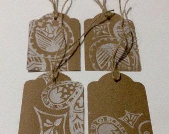 Paisley gift tags x10